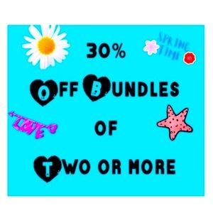 30% off bundle purchases & Discount shipping